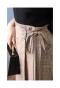 リボンとプリーツのチェック柄ラップスカート