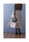 光沢感が美しいジャガードフレアスカート