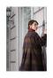 ふんわり袖のミックスツイードチェックロングコート