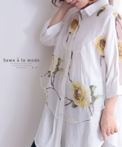ゆったりライントップシャツ【4月23日10時再入荷】 mode-0210