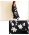 花柄刺繍長袖ワンピース
