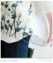 裾フラワー刺繍7分袖シャツ