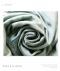 バラ刺繍デニム風ワイドパンツ