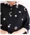 ドット刺繍のコットンリネンシャツチュニック