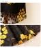 ドットと花模様のシフォンワンピース