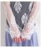 花模様総レースのフレア袖ハイネックトップス