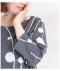 水玉と曲線のプリント柄長袖チュニック