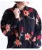 オリエンタル花刺繍のチュニックシャツ