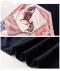 スカーフ風模様切り替えのニットワンピース