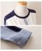 シャツ風切り替えの長袖トップス