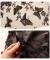 葉っぱと蝶の立体モチーフが重なるチュールスカート