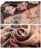 オリエンタルな花柄プリントの半袖ワンピース