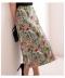 ボタニカルな織り柄のロングスカート