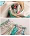 水彩画風ロングストレートパンツ