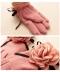 花コサージュ付き裏起毛のグローブ