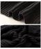 ローゲージニットのリブ編みタートルネックベスト