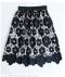 花柄透かしレースのフレアスカート