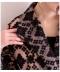 幾何学模様刺繍のチュールロングコート