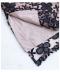 エレガントな花柄刺繍のシアーワンピース