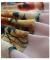 ヴィンテージ模様のシフォン半袖ワンピース