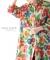 ビジュー付きカラフル花模様のチュニックシャツ
