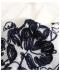ボタニカル刺繍の7分袖シアーブラウス