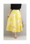 輝くお花の上品なチュールフレアスカート