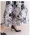 チュールとお花の煌くフレアスカート