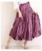 美しい艶めきのロングフレアスカート