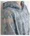 刺繍とシアー生地のチュールワンピース