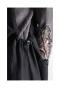 ドローコード付き黒サロペットスカート