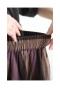 重なるストライプのフレアスカート