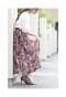 色鮮やかなマルチカラーのフレアスカート