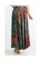 色鮮やかなボタニカル柄フレアスカート