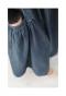 フレアシルエットのデニムサロペットスカート