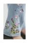 花刺繍のスキニーデニムパンツ